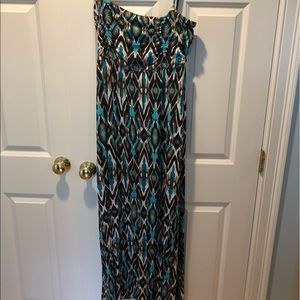 Blue and Brown Tribal Dress